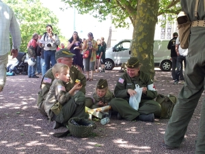 Belgian family re-enactors.